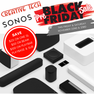 Sonos products on sale this weekend!