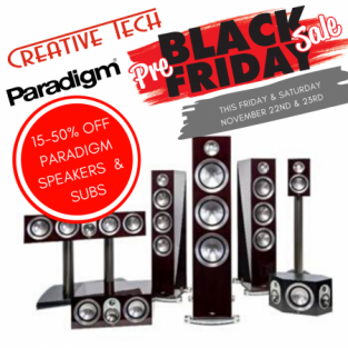15% OFF Paradigm Speakers and Subs