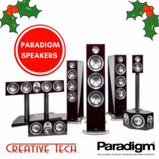 Paradigm Speakers, crafted in Canada.
