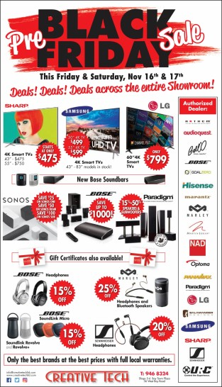 Pre-Black Friday Sale this Fri & Sat Nov 16th & 17th