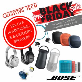 Bose Headphones and Bluetooth Speakers
