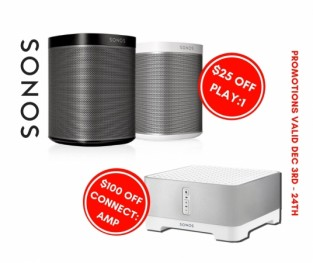 SONOS PLAY:1 and CONNECT:AMP on SALE!